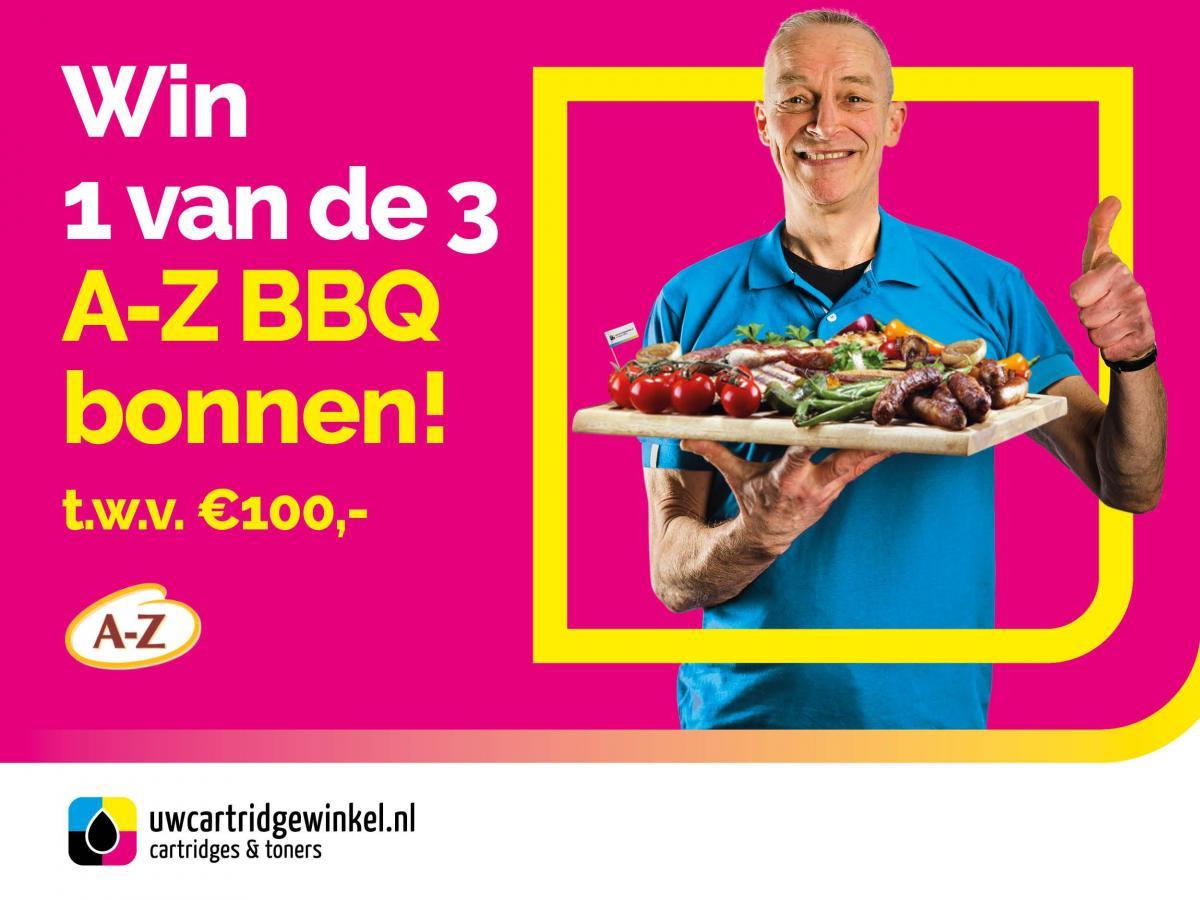 Win één van de drie A-Z BBQ bonnen!