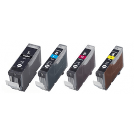 Huismerk Canon PGI-5 + CLI-8 multipack zwart + 3 kleuren incl. chip
