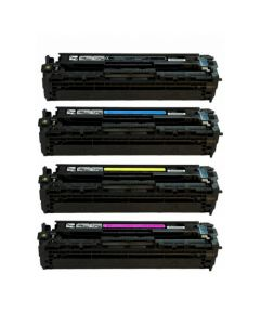 Huismerk HP 125A (CB540A-CB543A) multipack zwart + 3 kleuren