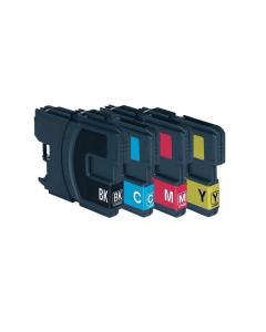 Huismerk Brother LC-1100 XL multipack zwart + 3 kleuren