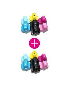 2 x Huismerk HP 363XL multipack zwart + 5 kleuren incl. chip