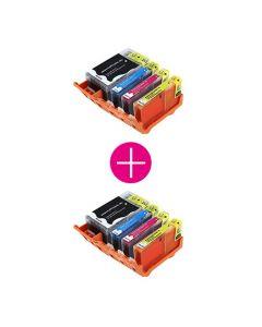 2 x Huismerk HP 920XL multipack zwart + 3 kleuren incl. chip