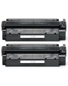 2 x Huismerk HP 15A (C7115A) zwart