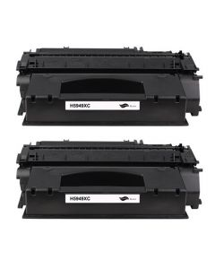 2 x Huismerk HP 49X (Q5949X) zwart