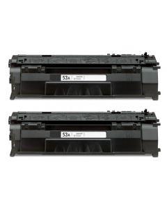 2 x Huismerk HP 53A (Q7553A) zwart