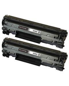 2 x Huismerk HP 83X (CF283X) zwart