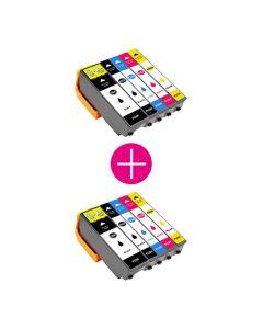 2 x Huismerk Epson 26XL (T2636) multipack 2 x zwart + 3 kleuren incl. chip