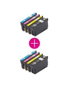 2 x Huismerk Epson 35XL (T3596) multipack zwart + 3 kleuren incl. chip