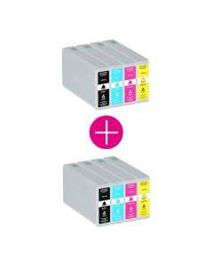 2 x Huismerk Epson 78XXL (T7895) multipack (zwart + 3 kleuren)