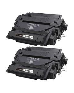 2 x Huismerk HP 55A (CE255A) zwart