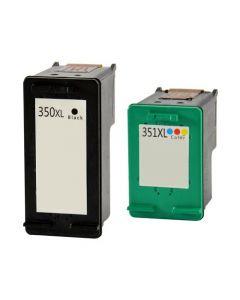 Huismerk HP 350XL zwart + HP 351XL kleur