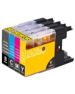 Huismerk Brother LC-1280 XL multipack zwart + 3 kleuren