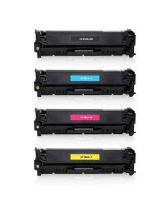 Huismerk HP 312A (CF380X-CF383A) multipack zwart + 3 kleuren