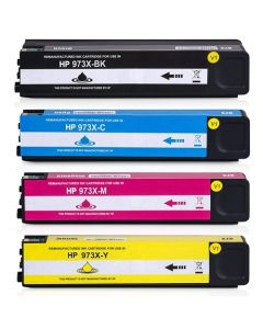 Huismerk HP 973X multipack zwart + 3 kleuren