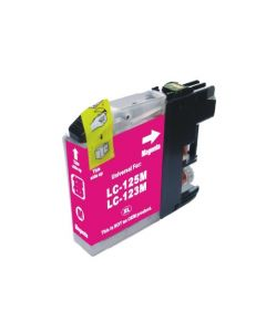 Huismerk Brother LC-123M magenta incl. chip