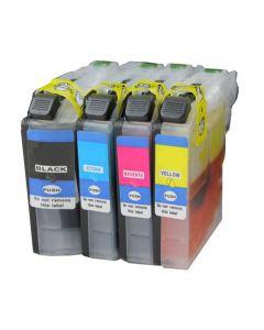 Huismerk Brother LC-227 / LC-225 XL multipack zwart + 3 kleuren incl. chip