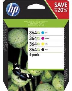 HP 364XL (N9J74AE) multipack - zwart/cyaan/magenta/geel (origineel)