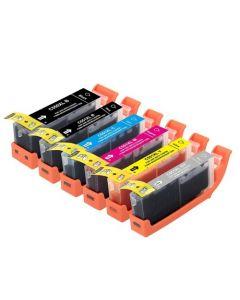 Huismerk Canon PGI-550 XL + CLI-551 XL multipack 2 x zwart + 3 kleuren + grijs incl. chip