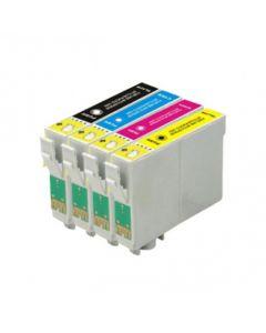Huismerk Epson T0615 multipack zwart + 3 kleuren incl. chip