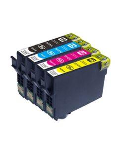 Huismerk Epson 18XL (T1816) multipack zwart + 3 kleuren incl. chip