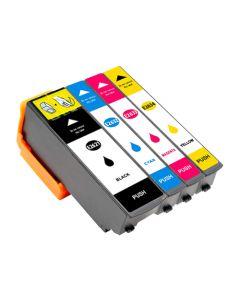 Huismerk Epson 26XL (T2636) multipack zwart + 3 kleuren incl. chip