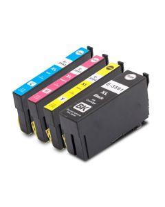 Huismerk Epson 35XL (T3596) multipack zwart + 3 kleuren incl. chip