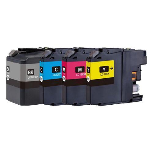 Huismerk Brother LC-12E multipack (zwart + 3 kleuren)