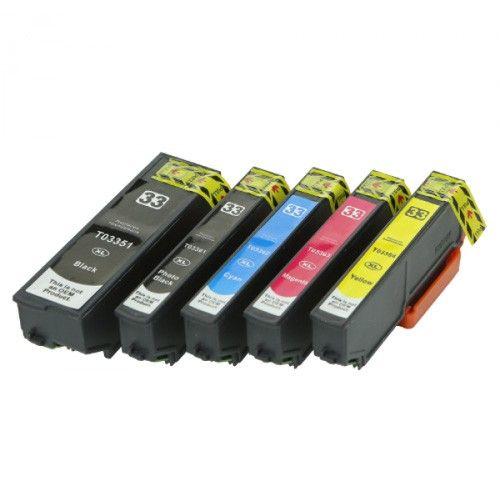 Huismerk Epson 33XL (T3357) multipack (2 x zwart + 3 kleuren)