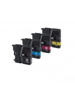 Huismerk Brother LC-985 XL multipack (zwart + 3 kleuren)