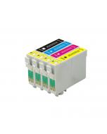 Huismerk Epson T1285 multipack zwart + 3 kleuren incl. chip