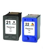 Huismerk HP 21XL zwart + HP 22XL kleur