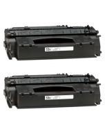2 x Huismerk HP 51X (Q7551X) zwart
