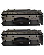 2 x Huismerk HP 80X (CF280X) zwart