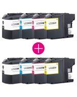 2 x Huismerk Brother LC-22E multipack (zwart + 3 kleuren)