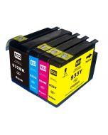Huismerk HP 932XL + HP 933XL multipack zwart + 3 kleuren incl. chip