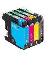 Huismerk Brother LC-223 multipack zwart + 3 kleuren incl. chip