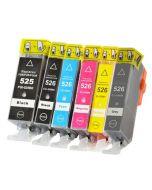 Huismerk Canon PGI-525 + CLI-526 multipack 2 x zwart + 3 kleuren + grijs incl. chip