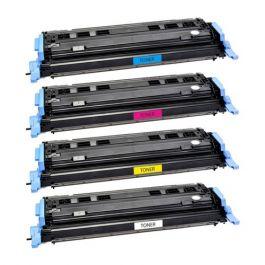 Huismerk HP 124A (Q6000A-Q6003A) multipack zwart + 3 kleuren