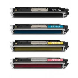 Huismerk HP 126A (CE310A-CE313A) multipack (zwart + 3 kleuren)