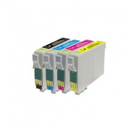 Huismerk Epson T0715 multipack (zwart + 3 kleuren)