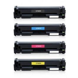 Huismerk HP 201X (CF400X-CF403X) multipack zwart + 3 kleuren