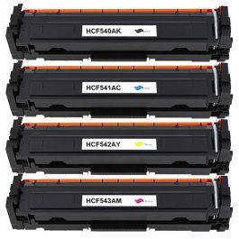 Huismerk HP 203A (CF540A-CF543A) multipack (zwart + 3 kleuren)