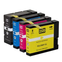 Huismerk Canon PGI-2500 XL multipack zwart + 3 kleuren incl. chip