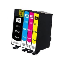 Huismerk Epson 34XL (T3476) multipack (zwart + 3 kleuren)
