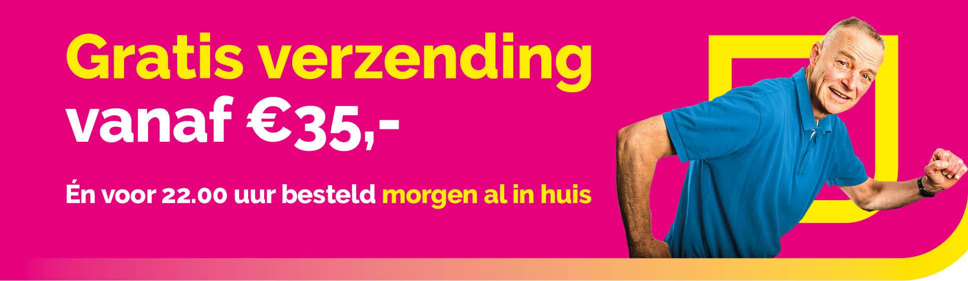 Gratis verzending vanaf 35 euro!