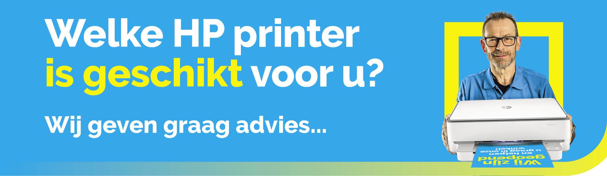 Welke HP printer is geschikt voor u?