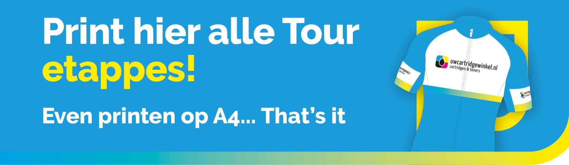 Tour de France downlaoden en printen A4